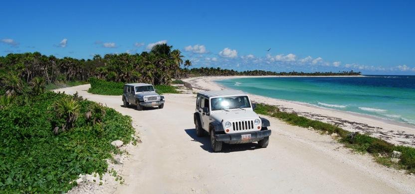 Route d'accès à Punta Allen: la route est longue mais le spectacle est garanti