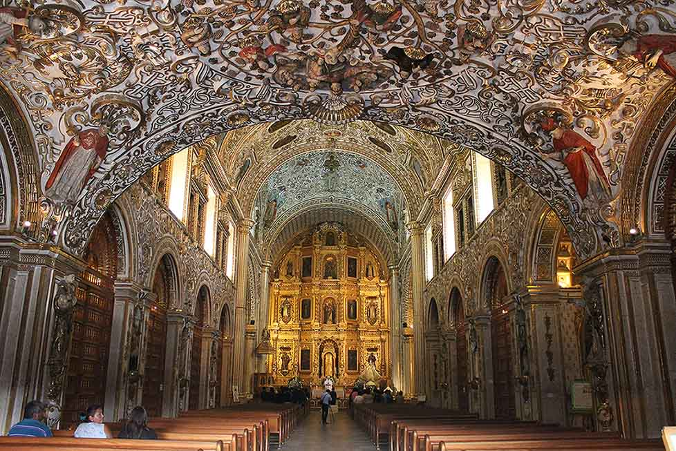 Eglise Santo Domingo, ville de Oaxaca au mexique