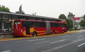 Le metrobús à Mexico