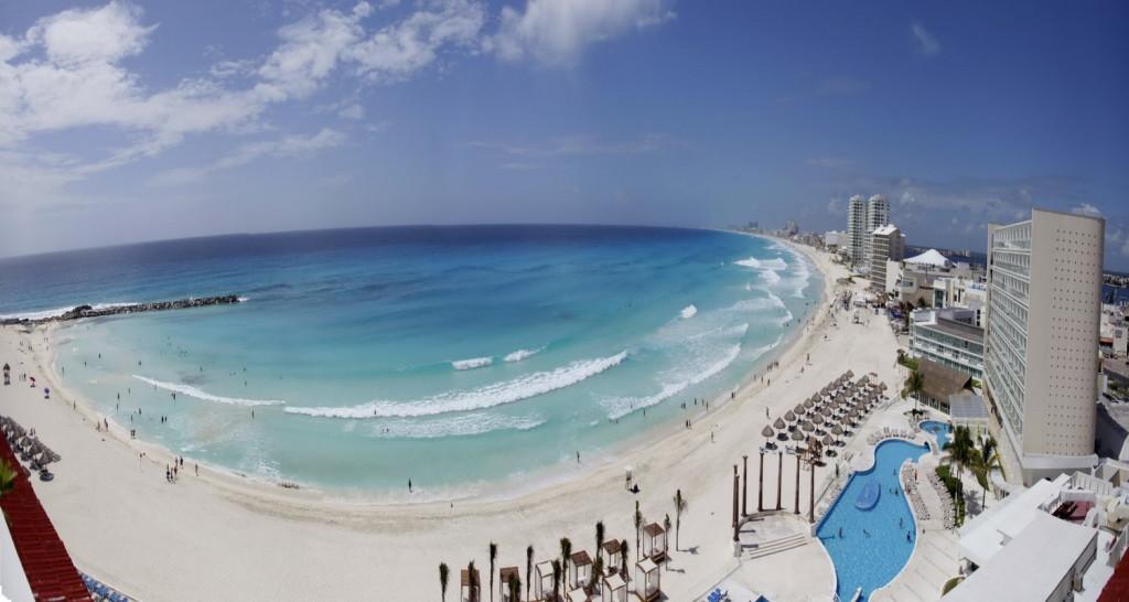 Plage Gaviotas, l'une des plages de la ville de Cancun