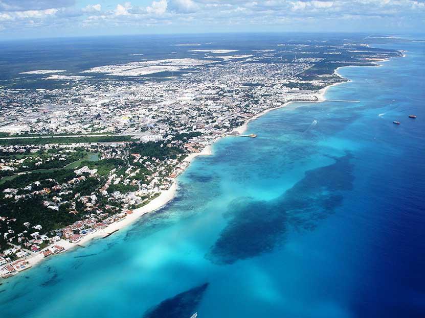 Playa del Carmen vue du ciel