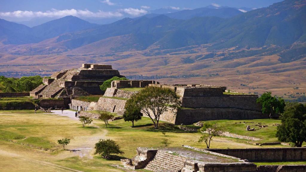 Site archéologique de Monte Alban au Mexique